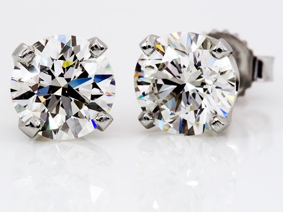Diamond Studs Earrings Jewelry